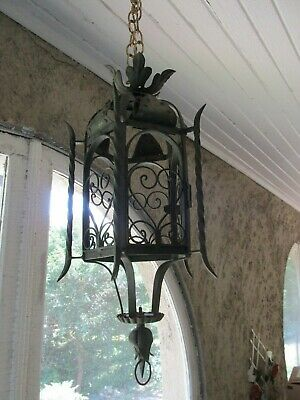 Antique Wrought Iron Light Spanish Revival Style for Restoration