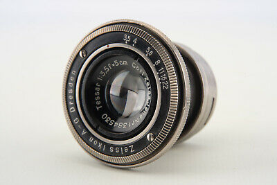 Carl Zeiss Jena Tessar 5cm 50mm f/3.5 Collapsible Lens for Contax Rangefinder V7