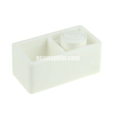 White Soft Touch Compressed Napkin Holder Presenter Econapkin