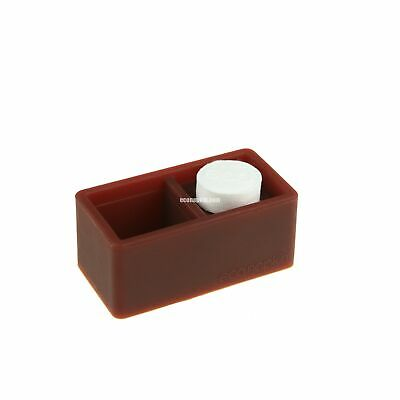 Brown Soft Touch Single Compressed Napkin Holder Econapkin