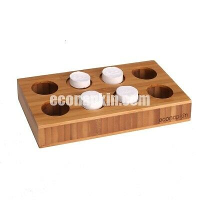 1 x Bamboo Multi Compressed Napkin Holder inc Bonus 20 Econapkin