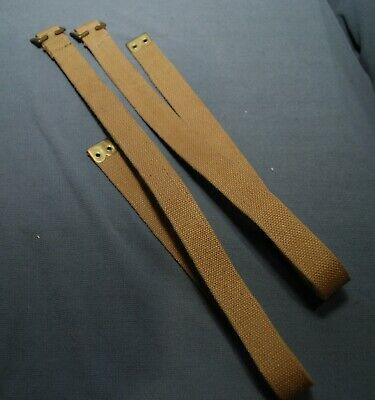 Canadian Army 37 Pattern Webbing P37 Long Straps Pair Grade 1 Condition