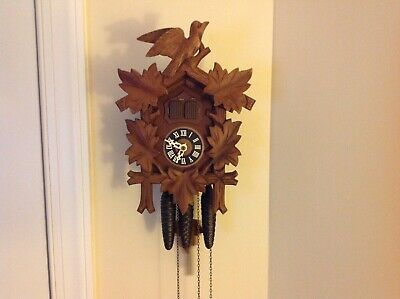 Vintage Germany Regula Musical 2 Door Cuckoo Clock 30 Hour/One Day Nice Clock!
