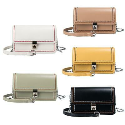 Leather Small Shoulder Messenger Handbags Women Solid Color Crossbody Bags H1