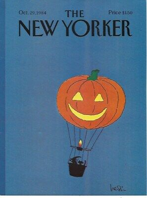 COVER ONLY ~The New Yorker magazine ~LEVIN~ October 29 1984 ~ Halloween Balloon
