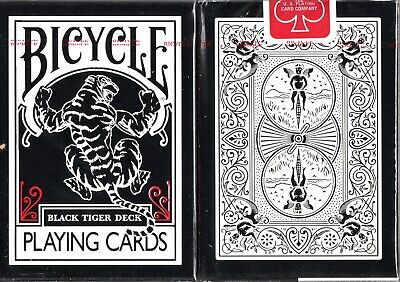 Black Tiger (Red Pips) Playing Cards - USPCC - Ellusionist - Bicycle