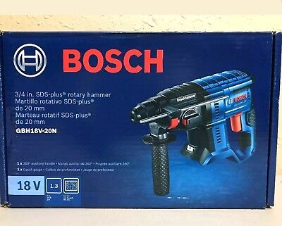 BOSCH GBH18V-20N - 18V 3/4 In. SDS-plus Rotary Hammer (Bare Tool) NEW Free Ship