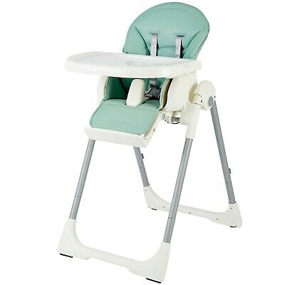 The Living Store Green Portable  Adjustable Baby High Chair Feeding Dining 6-12m