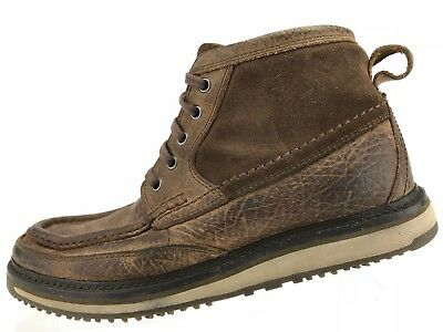 Ariat Ankle Boots Lookout Brown Leather Lace Up Moc Toe 4LR Chukka Mens 7.5 D