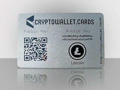 LITECOIN / LTC Cryptocurrency Storage Wallet Cards / Gift