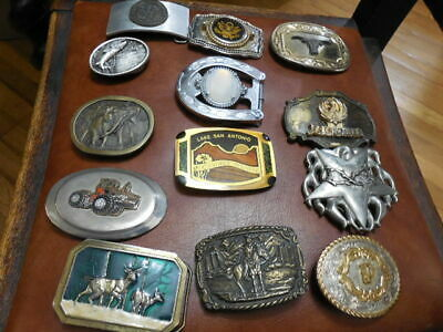 Vintage Lot 30 Belt buckles Rodeo Cowboy Christmas in July