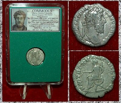 Ancient Roman Empire Coin Of COMMODUS Emperor On Reverse Silver Denarius
