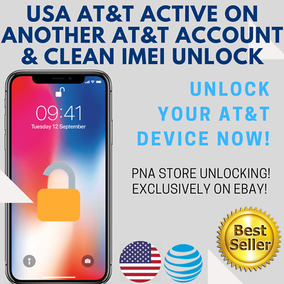 FACTORY UNLOCK SERVICE USA AT&T iPhone ACTIVE on ANOTHER AT&T ACCOUNT & CLEAN