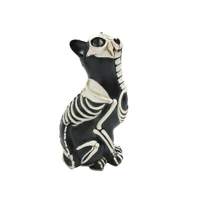 Dod  Day Of The Dead - Cat Bone Skeleton  Figurine -New  Los Dias De Muertos