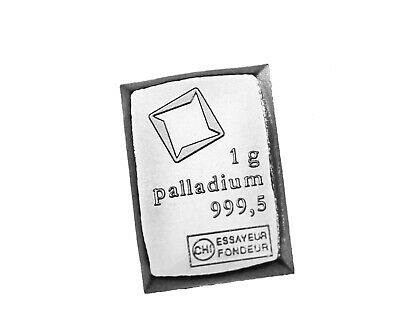Palladium Metal 0.1 Gram 99.95% Pure Bullion or Element Collection