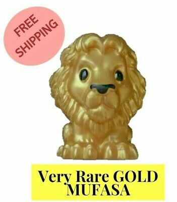 Woolworths The Lion King Ooshies Gold Limited Edition - Very Rare GOLD MUFASA