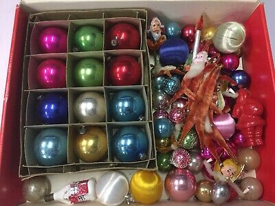 Vintage Christmas Decorations. Over 75 Pieces