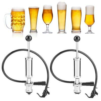Heavy Duty Draft Beer Party Picnic Keg Tap Beer Pump with Squeeze Trigger 4 In