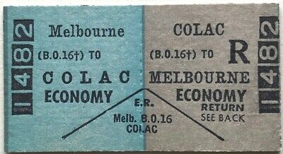 VR Ticket - MELBOURNE (BO16) to COLAC - Economy Return