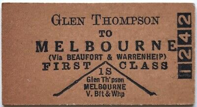 VR Ticket - GLEN THOMPSON to MELBOURNE - 1st Class Single