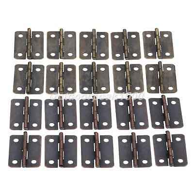 UK STOCK Antique Bronze Wooden Box Door Decoration Cabinet Hinge 25*18mm 10Pcs