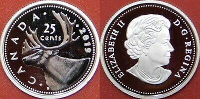 Brilliant Uncirculated 1956 Canada Silver 25 Cents From Mint's Roll