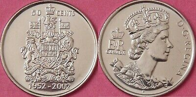 Brilliant Uncirculated 2002P Canada Ascension 50 Cents From Mint's Roll