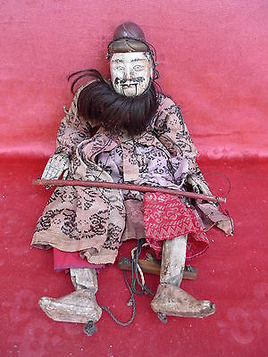 Beautiful, Old Holz-Marionette __ Asia (Japan, Indonesia__Carved and Painted_