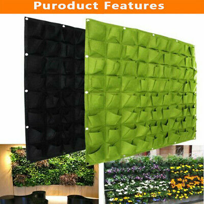 Woodside 72 Pocket Hanging Wall Vertical Flower Planter Garden Herb Planting Bag