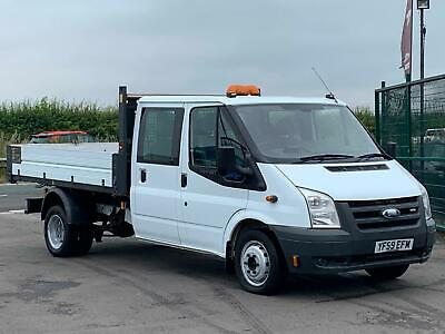 Ford Transit 2.4Tdci 100Bhp Lwb Double Cab Tipper In White.