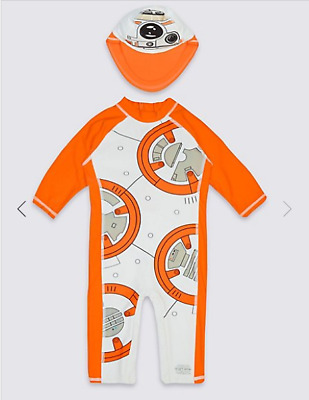 M&S Official Star Wars 2 Piece UV 40+ Sunsuit Various Sizes-BNWT
