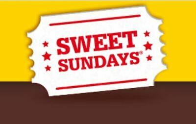 Sweet Sunday codes for 2 x cinema tickets - cineworld only