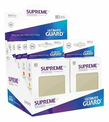 Ultimate Guard Supreme UX Sleeves, Standard Size, Sand, 80 Counts