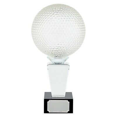 Ultimate Golf Crystal Trophy Award 290mm FREE Engraving