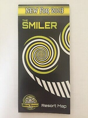 Alton Towers 2013 Map The Smilers Opening Year Merlin Entertainments RARE