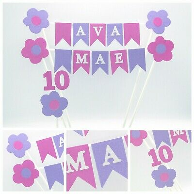Personalised Cake Topper Bunting  Decoration  Maximum 5 letters per row