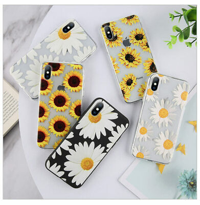 Daisy Sunflower Flower Phone Cover Case For iPhone 5/5s 6/6s 7 7p 8p X XS Xr