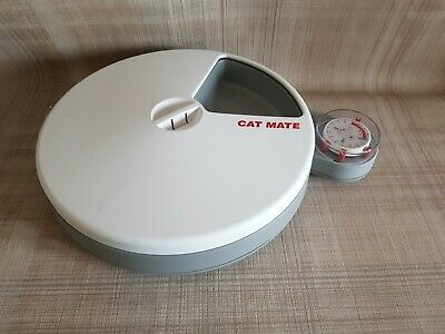 Cat Mate C50 Automatic 5 Meal Pet Feeder For Cats Or Small Dogs Boxed.