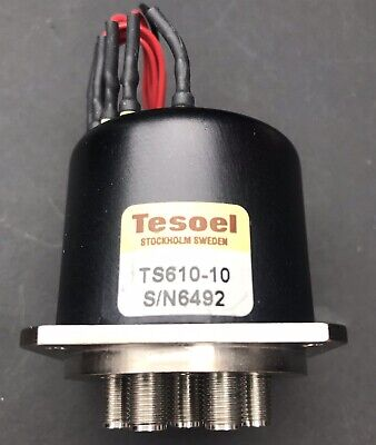 Tesoel TS610-10 6 way SP6T DC-18GHz 12V DC SMA COAXIAL MICROWAVE SWITCH RELAY
