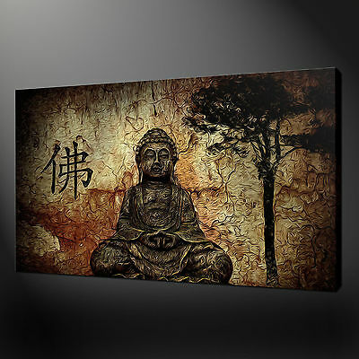 Buddha Canvas Print Picture Wall Art Variety Of Sizes Free Fast Delivery