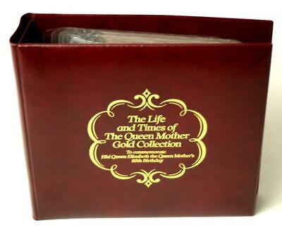 The Life & Times Of The Queen Mother - 22ct Gold Collection Of 35 Stamps