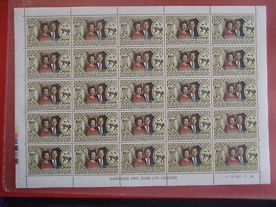 1972 Royal Silver Wedding - 2 Complete Sheets Of 25 Stamps British Solomon Is