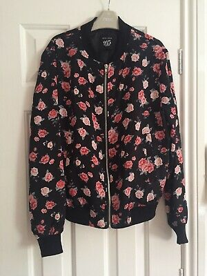 Newlook Girls Floral Print Bomber Jacket Age 12 - 13 Years Great Condition
