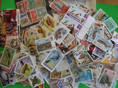 UNSORTED/DUPLICATED STAMP MIXTURE APRX 90gms OFF PAPER COMMONWEALTH & WORLD