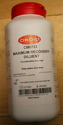 Oxoid CM0733 Maximum Recovery Diluent (Dehydrated) 500g - New, Expiry 02/2023