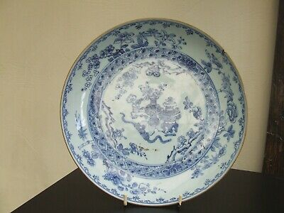 Chinese Porcelain Dished Plate Circa 1800 Vases Of Flowers & Precious Objects