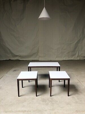 Vtg Mid Century Richard Hornby Teak Nest Tables Side Coffee Table Danish Retro