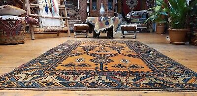 """Beautiful Antique Cr1930-1939s Natural Dyes 4'10""""×8' Wool Pile Oushak Rug"""
