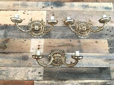 Beautiful Gold Gilded Spanish Candle Sconce Wall Light Bracket Lamp Rococo