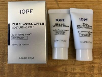 IOPE Ideal Cleansing Gift Set Moisturizing Care (2 Items) x 3pcs  US Seller
